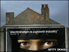 Anti-racism poster in Birmingham