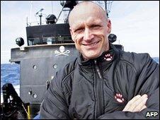 Sea Shepherd activist Pete Bethune (file image)