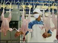 A poultry worker