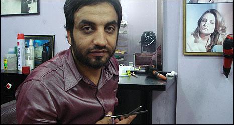 Hatem al-Ghoul, Gaza hairdresser