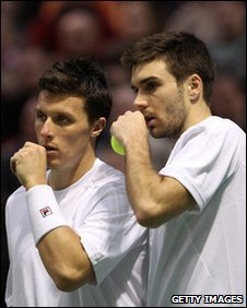 Ken Skupski (left) and doubles partner Colin Fleming