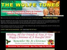 Screengrab of Wolfe Tones website