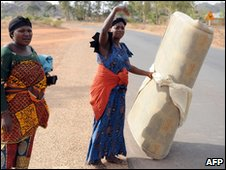 Women fleeing their villages