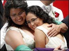 Judith Vazquez, left, and Lol-kin Castaneda.