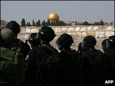 Israeli riot police in East Jerusalem
