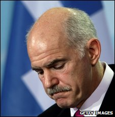 Greek Prime Minister George Papandreou in Berlin on 5 March 2010 