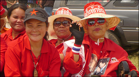 Thaksin Shinawatra's supporters in Udon Thani