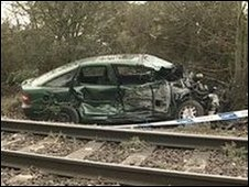 The car near the Ipswich to Felixstowe line