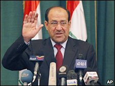 Iraqi Prime Minister Nouri Maliki. Photo: March 2010