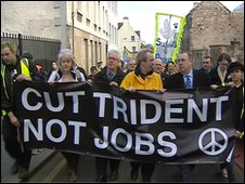 First Minister Alex Salmond joined the march against Trident