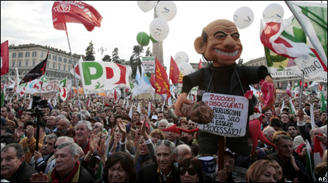 Anti-Berlusconi protest in Rome (13 March 2010)