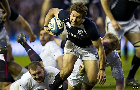 Scotland captain Chris Cusiter in action against England
