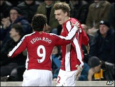 Eduardo and Nicklas Bendtner