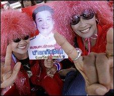 Red shirt protester in Bangkok, 14/3/10