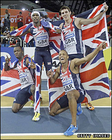 Britain's 4x400m relay team