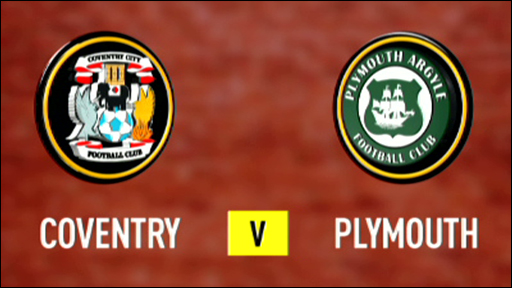 Coventry 1-1 Plymouth