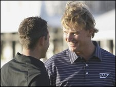 Ernie Els after winning the CA Championship