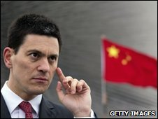 UK Foreign Secretary David Miliband in China