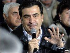 Mikhail Saakashvili meets Georgians on 14 March