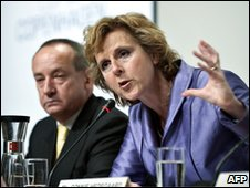 Connie Hedegaard and Yvo de Boer (AFP)