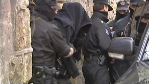 Arrests were made in Spain