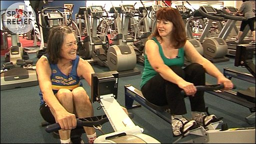 BBC Radio Norfolk's Karen Buchanan at the gym