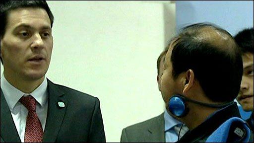 David Miliband in China