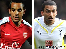 Theo Walcott and Aaron Lennon