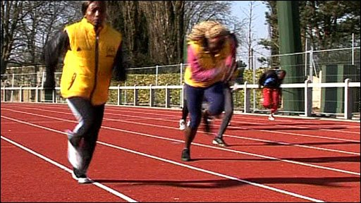 Athletes training in Calais