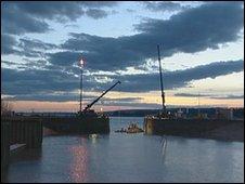 Gates installed at Sharpness Docks