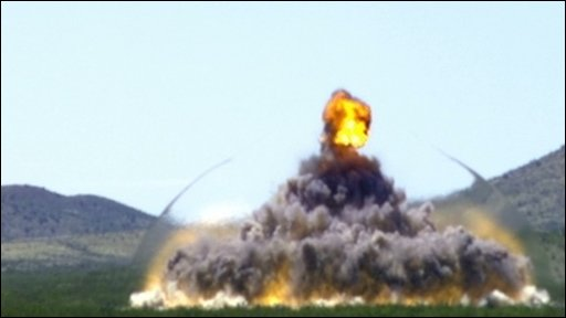 Explosion in slow-motion