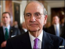 George Mitchell in Washington, file pic