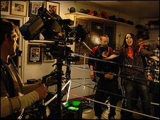Envy shooting the video for Nadine