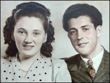 Anne & Rudi after their wedding in 1948