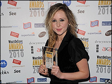 Diana Vickers wins a What's On Stage award