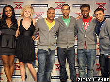 Alexandra Burke, Diana Vickers and JLS