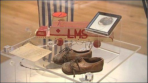Holocaust memorabilia in the Jewish Museum London