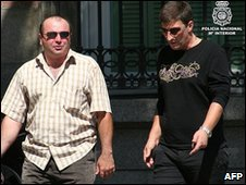 Suspected members of a Georgian criminal group arrested by Spanish police, 15 March 2010