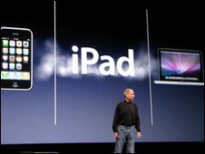 Steve JObs at ipad announcement