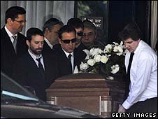 Mourners attend Corey Haim's funeral