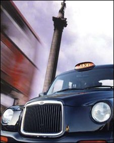 A black cab in London