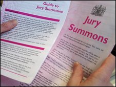 Jury summons papers
