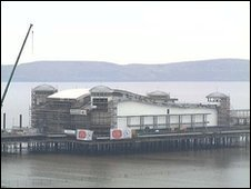 A view of Grand Pier at Weston-super-Mare