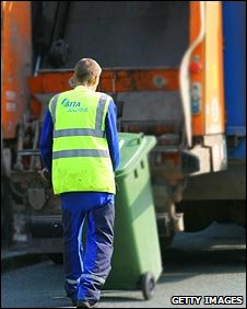 Bin man, or waste disposal technician
