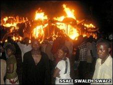 The fire in Kasubi
