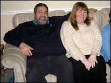 Alan and Jan Coupe before the weight loss