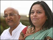 Scottish Indian couple Sam and Sunita Poddar