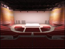 Leeds Arena proposed interior