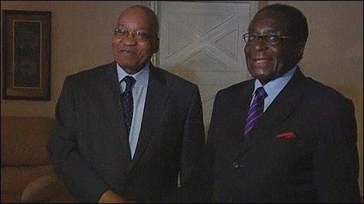 President Jacob Zuma meets President Mugabe