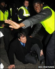The injured security guard at Stamford Bridge